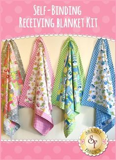 Self-Binding Receiving Blanket Kit They don't come any sweeter than this! Th...