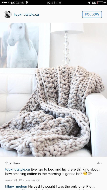 Soft warm large crochet blanket chunky blanket weighted blanket chrochet throw b...