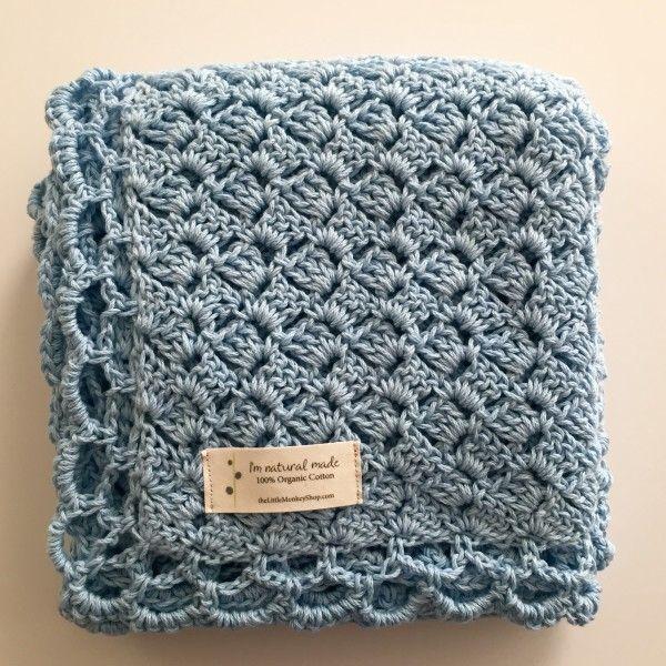 This Baby Blanket Kit will make a wonderful organic, eco friendly baby shower gi...