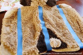 Turn a pillow pet into a weighed lap pad from One Project Closer