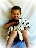 Weighted Stuffed animals. Never considered this, but I think Lil would respond m...