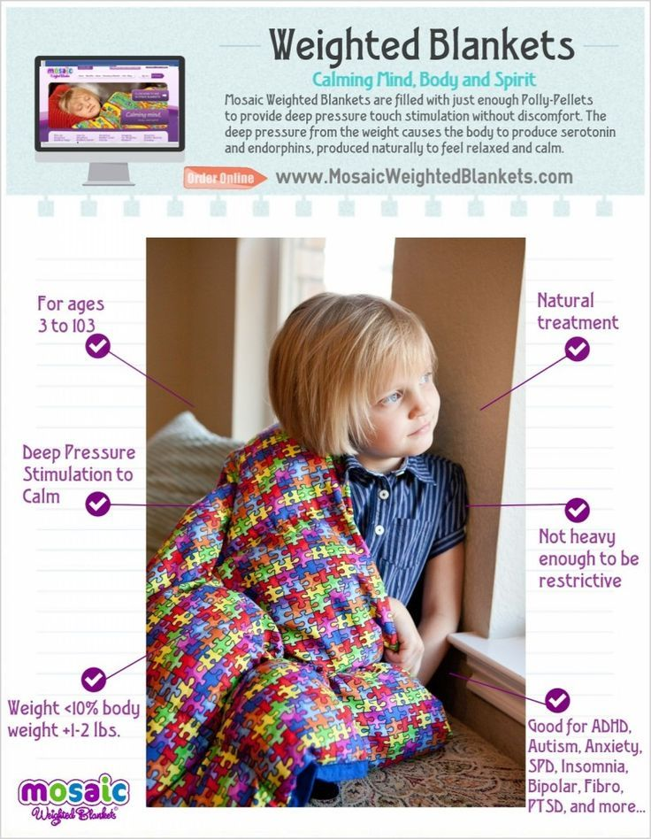 When the child is awake, drape it across his lap or around his shoulders. The de...