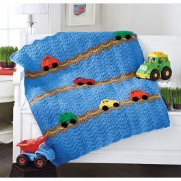 Your little guy will love this fun and colorful cars blanket.