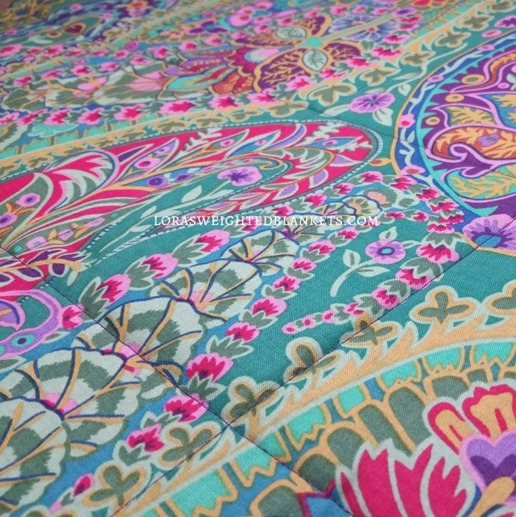 paisley-cotton-loras-weighted-blankets