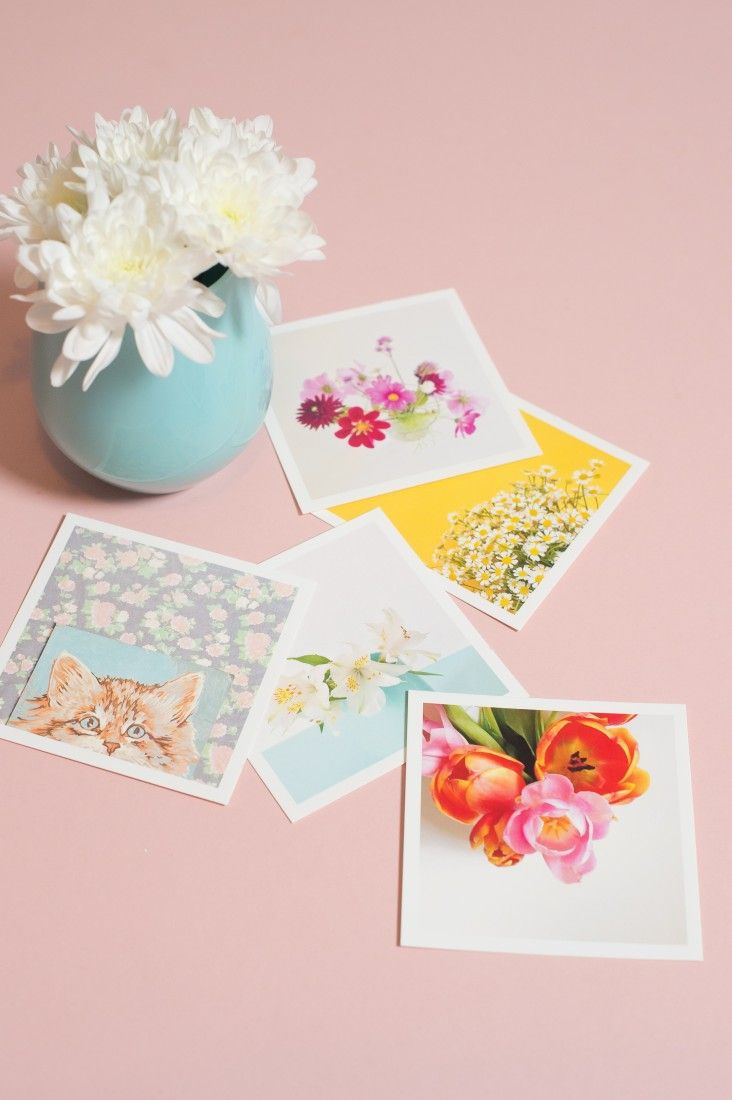 These cool square prints can be made with photos from your Instagram, camera-rol...