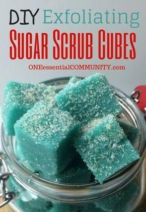 Exfoliating Sugar Scrub Cubes