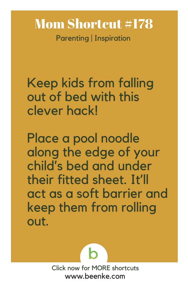 Parenting and Inspiration Shortcuts #178: Keep your kid from falling out of bed!...
