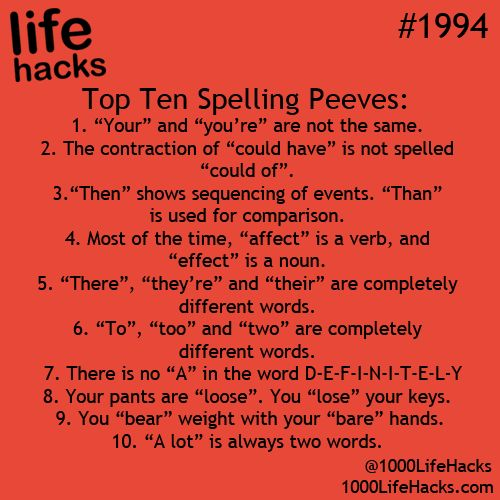 Spelling is essential to effective communications.  #LifeHacks #ShermanFinancial...