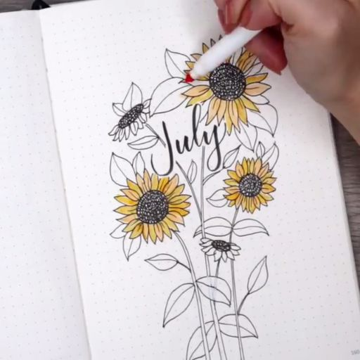 cauliflower july calligraphy bullet journal lettering tips calligraphie carnet b...