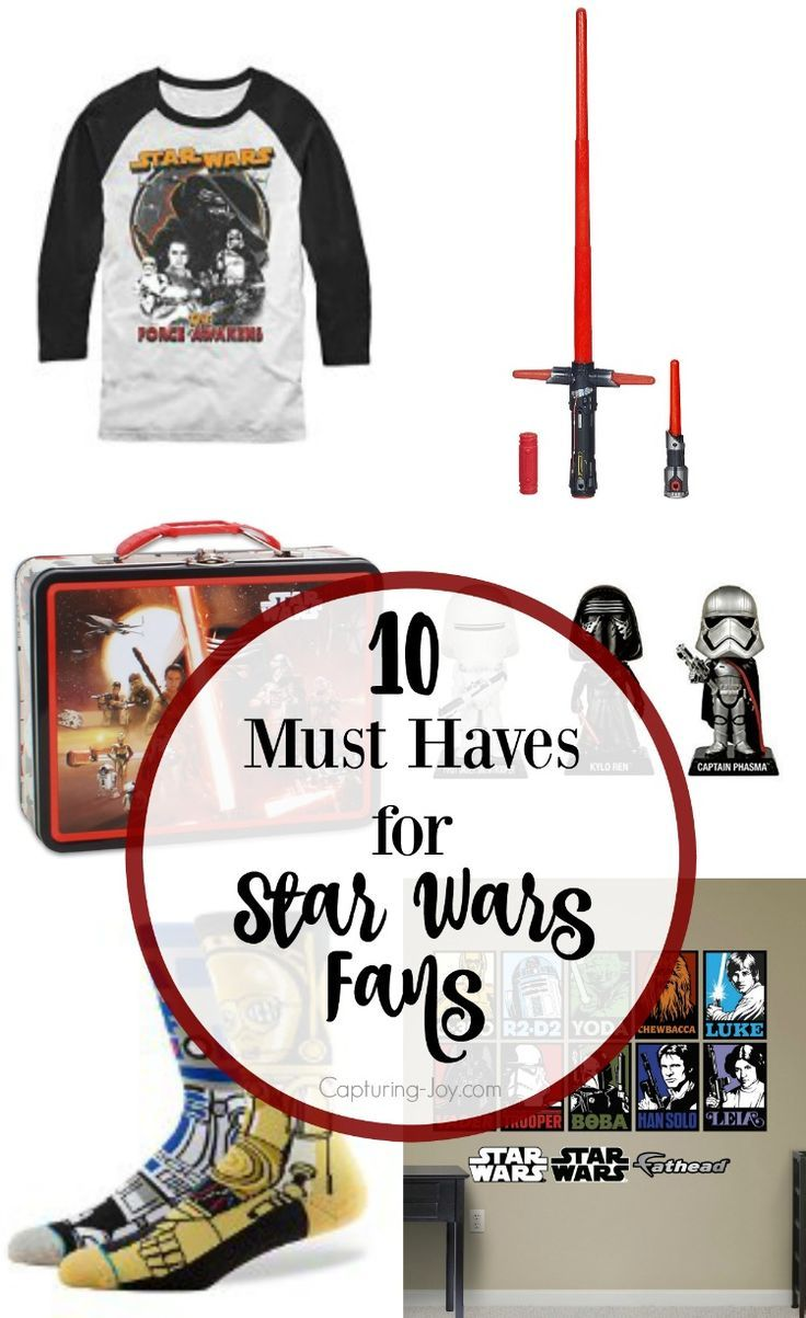 10 Must Have gifts for the Star Wars Fan from clothing to toys to home decoratio...