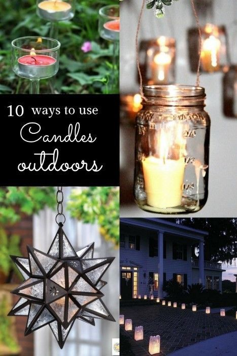 10 different ways to light up the garden at night with candles from DIY projects...