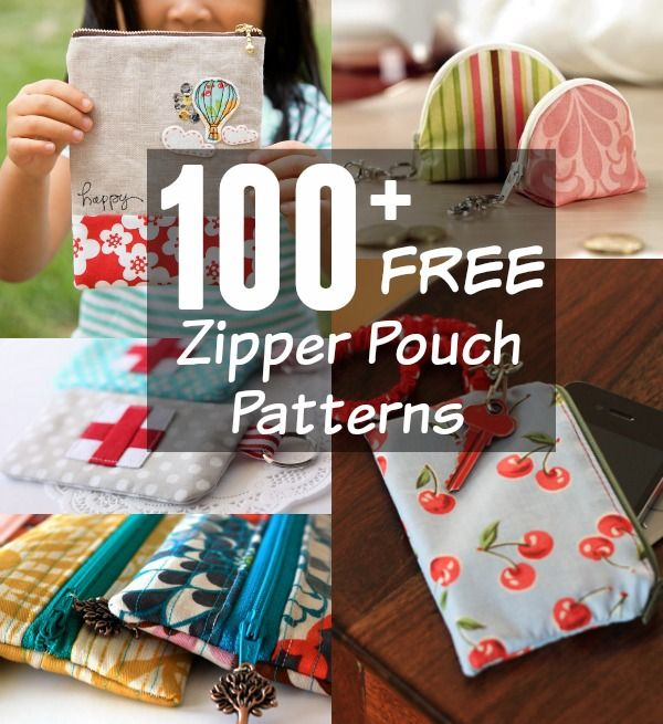 100+ Free Zipper Bag Patterns Rounded Up in one place. All patterns are free wit...