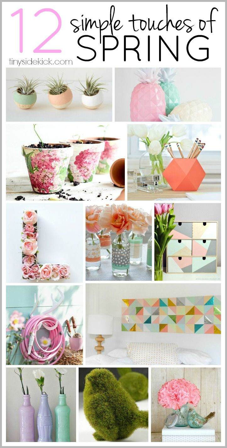 Diy Crafts A List Of Really Simple Ways To Add A Pop Of Spring To