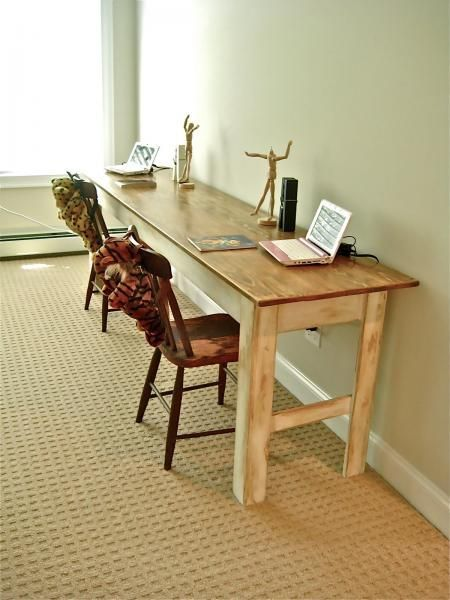 Ana White | Build a Narrow Farmhouse Table | Free and Easy DIY Project and Furni...