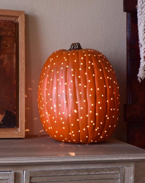 Carving with a drill creates the most beautiful pumpkin lanterns. These luminari...