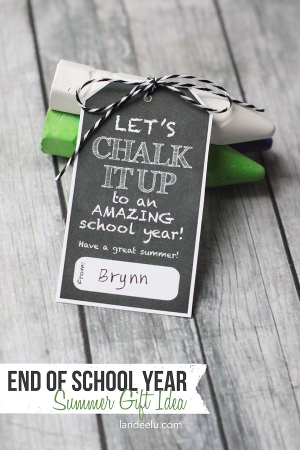Chalk it Up Summer Gift Idea   landeelu.com  Would be so cute for kids to give t...