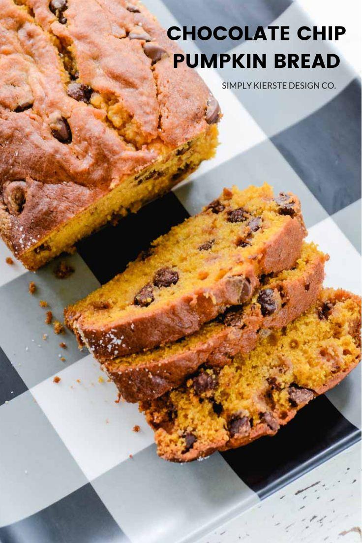 Chocolate Chip Pumpkin Bread | simplykierste.com #chocolatechippumpkinbread #pum...
