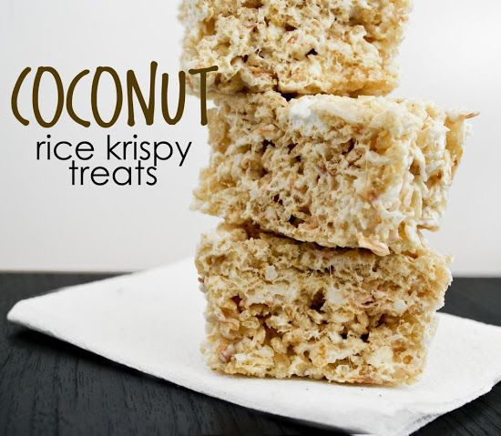 Coconut Rice Krispy Treats (she: Summer) - Or so she says...