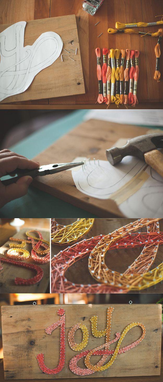 Cool DIY String Art Words | diyready.com/...