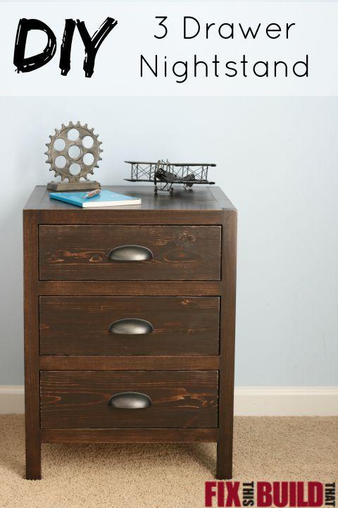 DIY Drawer Nightstand