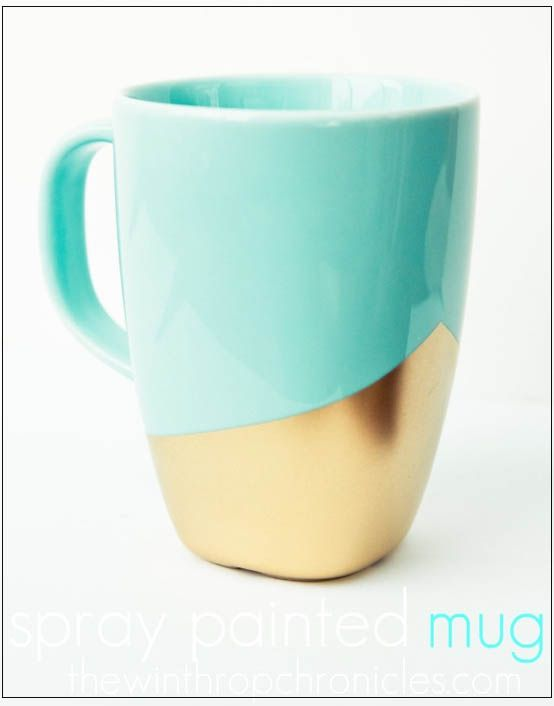 DIY Gold dipped coffee mug.