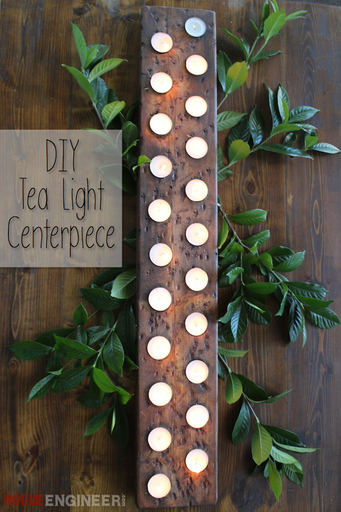DIY Tea Light Centerpiece | Free Plans | rogueengineer.com #DIYholidaydecor #dec...