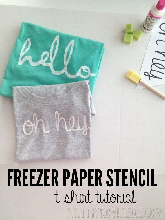 DIY: freezer paper stencil shirt with