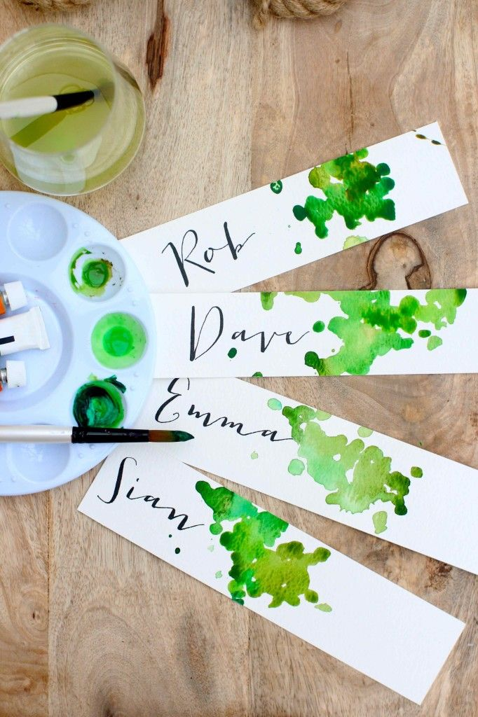Diy Crafts Diy Place Cards Or Gift Tags Diyall Net