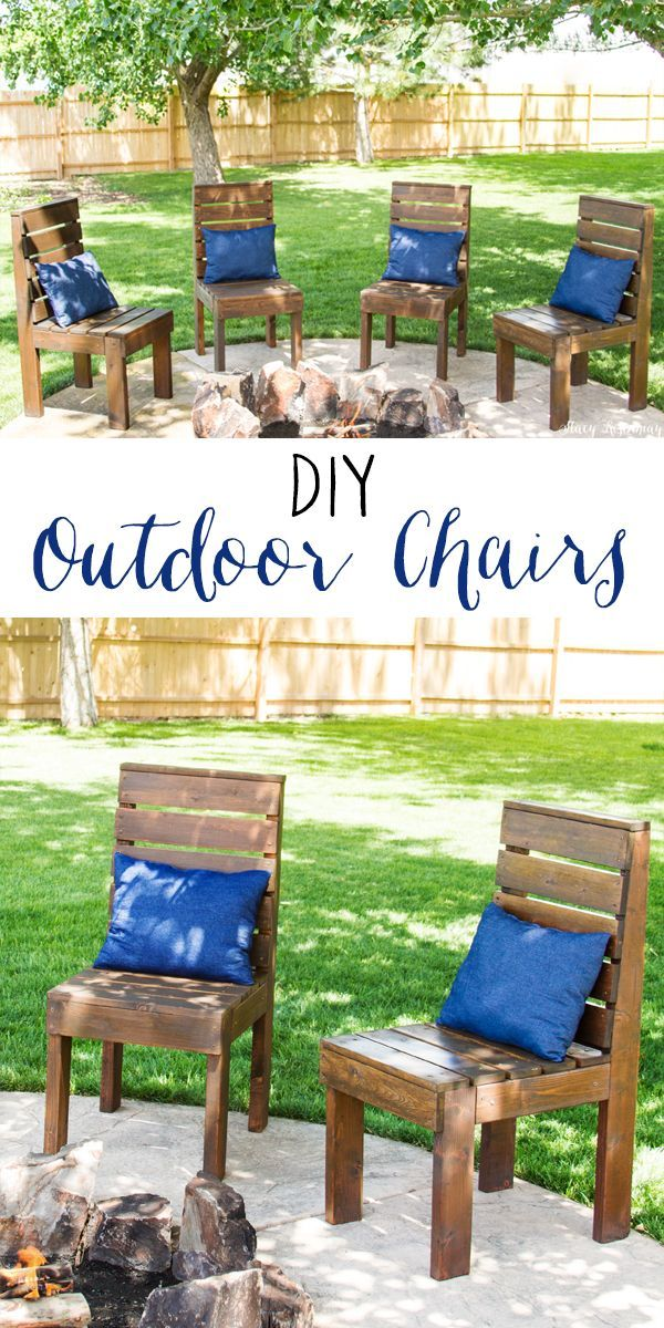 Easy to Build Outdoor Chairs! A full tutorial with pictures.  This DIY project w...