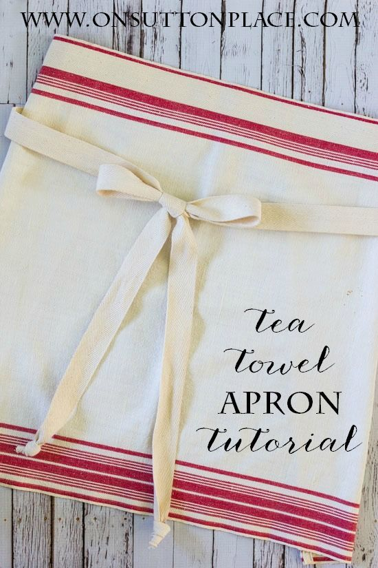 Easy tutorial on how to make a tea towel apron. Uses quick straight line sewing....