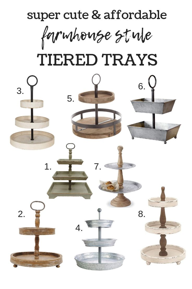 Farmhouse Style Tiered Trays #farmhouse #farmhousestyle #tieredtrays #farmhouset...
