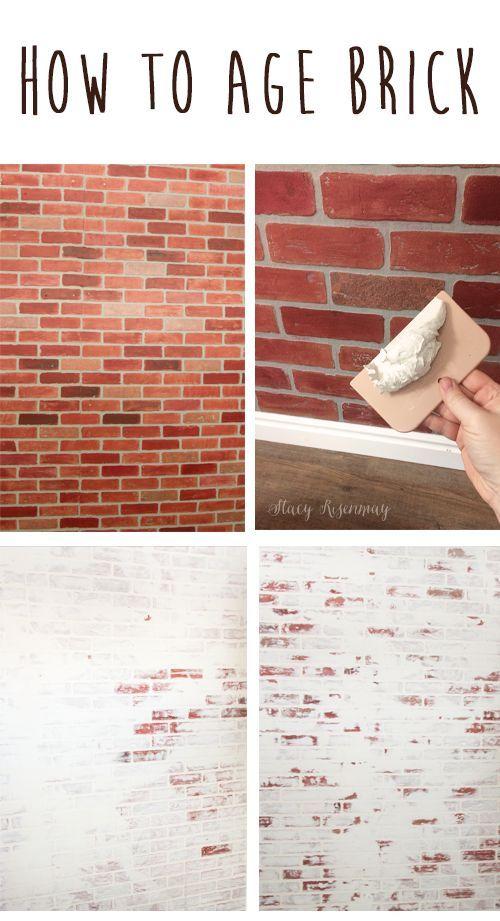 Faux Brick Wall | Stacy Risenmay #fauxbrickwall #fauxbrick #brickwall #brickwall...