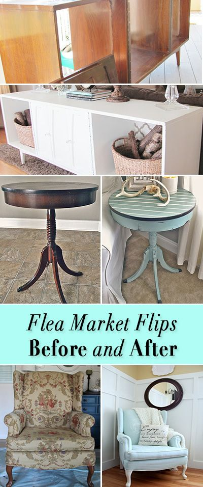Flea Market Flips : Before and Afters • Great DIY tutorials for taking flea ma...