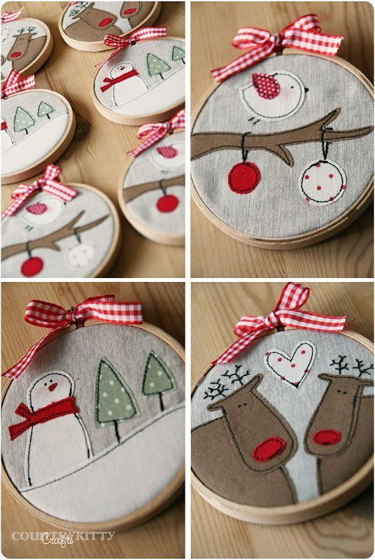From stockings, to pillows, to ornaments and decorations. More than 25 cute thin...