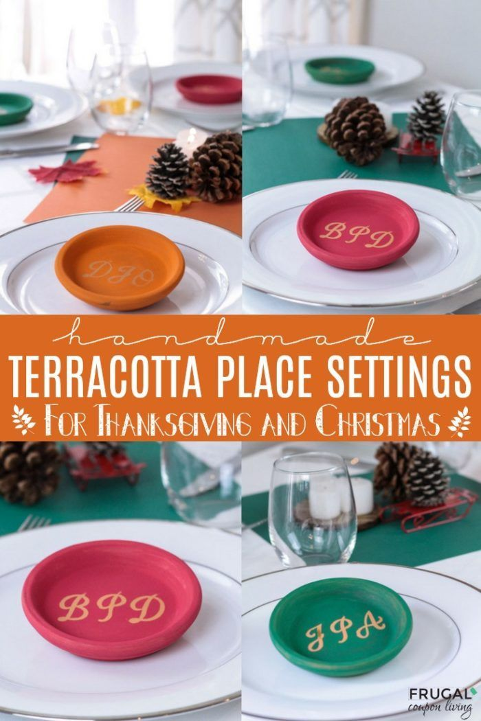 Handmade Terracotta Place Settings for your Christmas and Thanksgiving Tablescap...