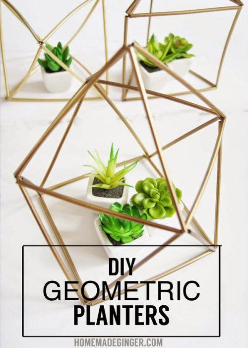 I could not believe what created these DIY Geometric Planters! More Dollar Store...