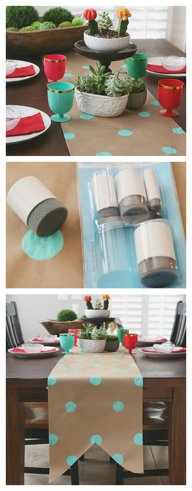 Kraft Paper Table Runner | Fun and Inexpensive Decorating Ideas for Parties or a...