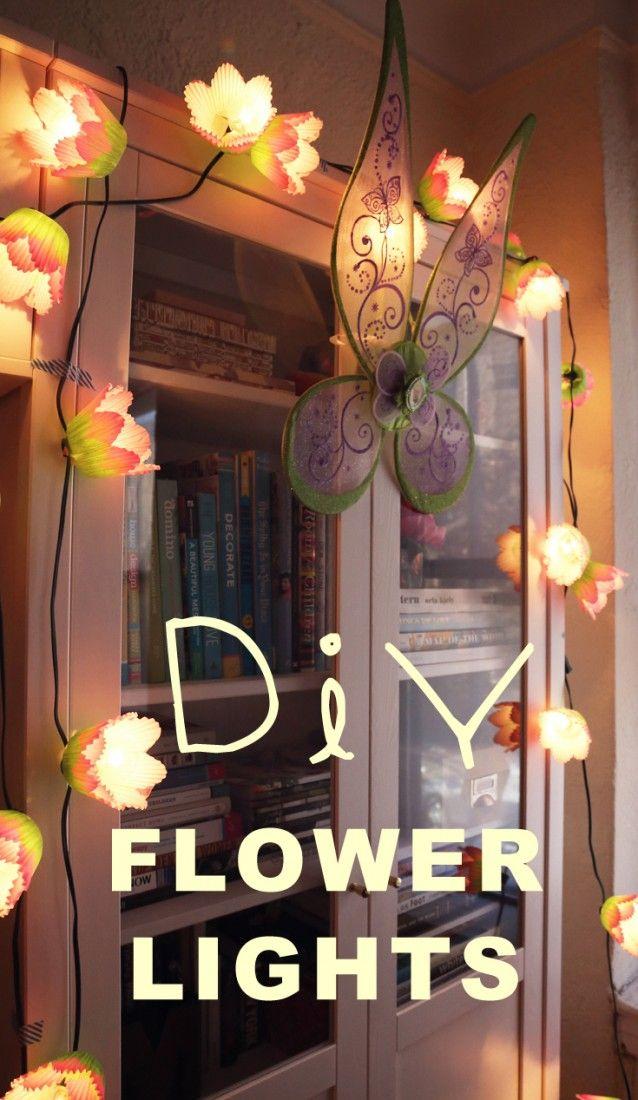 Light up the night with DIY Flower Lights.