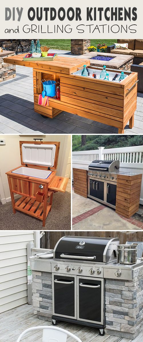 Lots of great ideas and tutorials showing you how to DIY your own built-in BBQ, ...