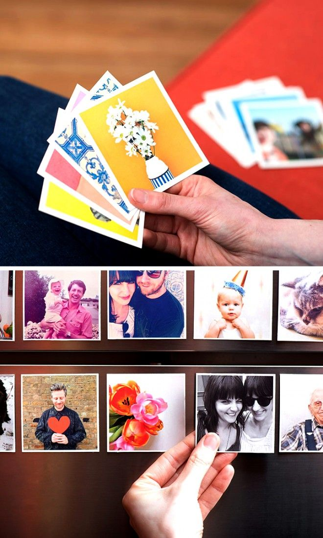Make lovely square magnets with your favorite photos!