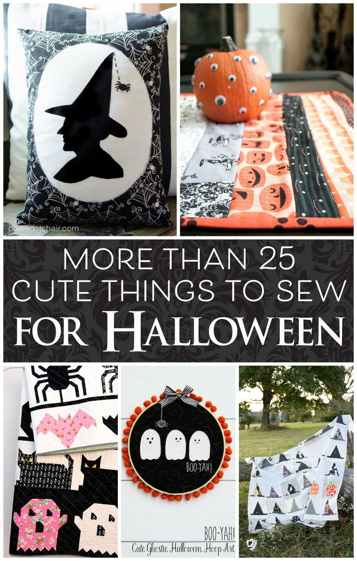 More than 25 Cute Things to Sew for Halloween - from quilts to pillow, costumes ...