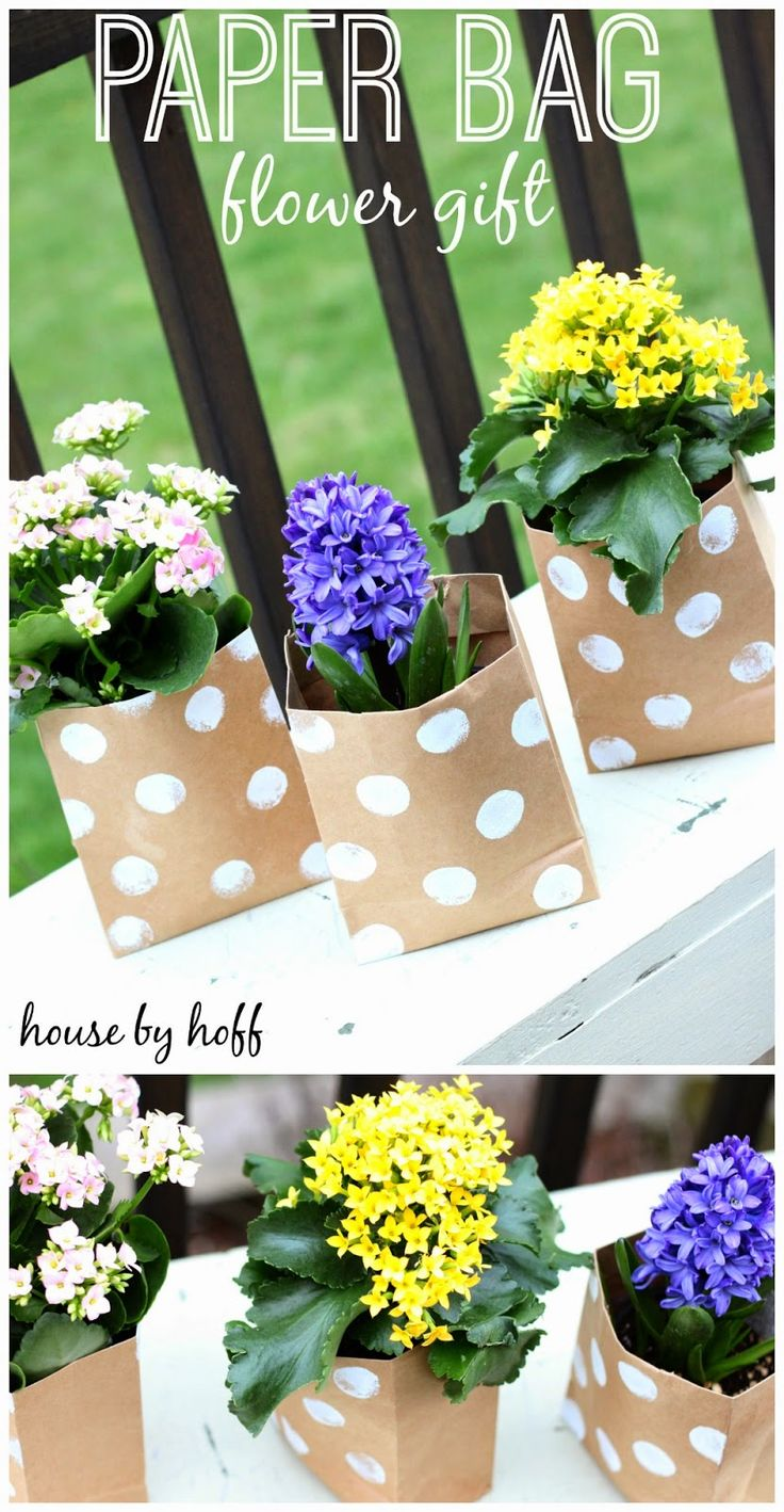Paper Bag Flower Gifts