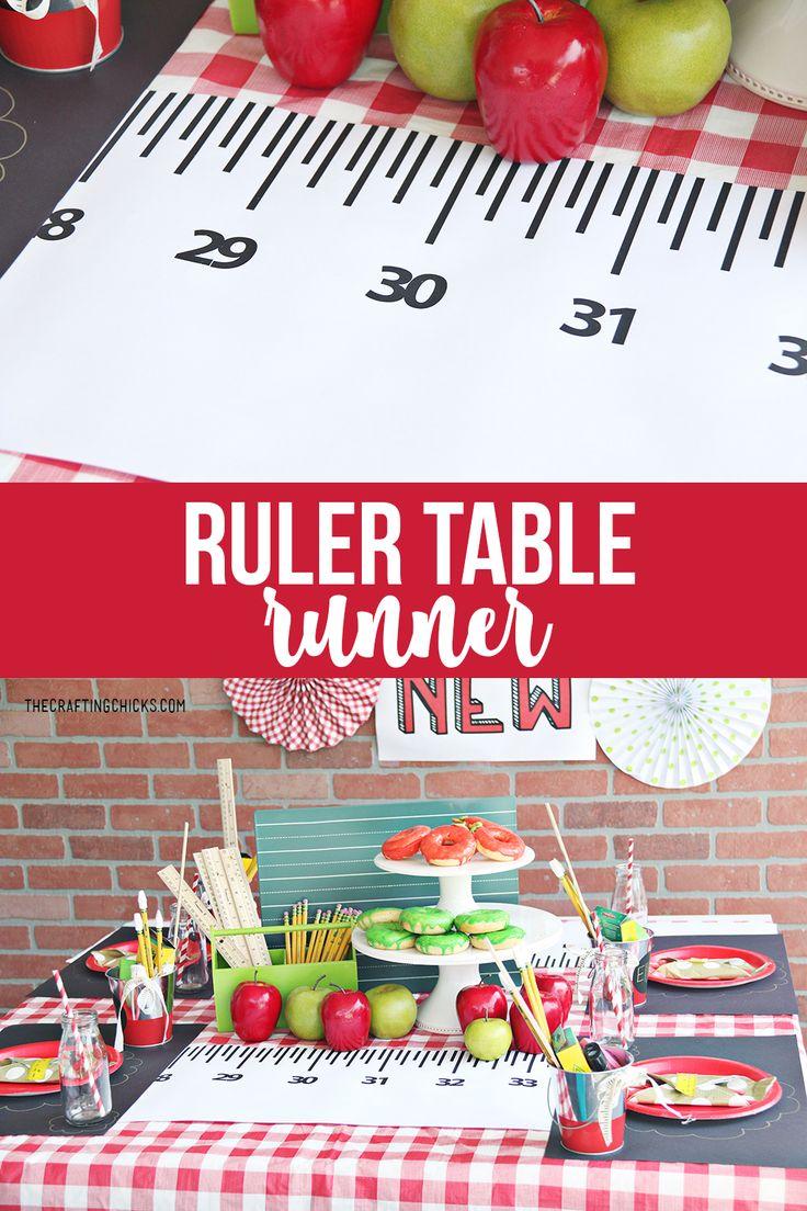 Ruler Runner for your back to school table #backtoschool #printable #freeprintab...