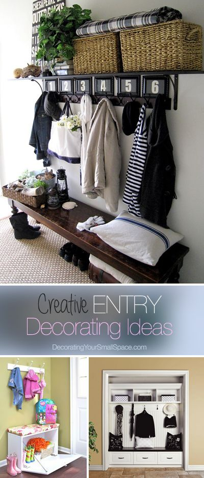 Small Entry? Great Ideas! • Creative DIY entry decorating ideas for your small...