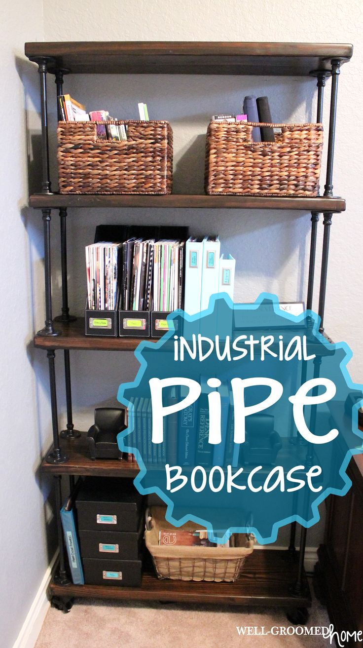 Sources - How to make an industrial pipe bookcase that doesn't break the ban...