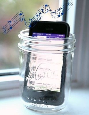 This really works! Turn a mason jar into an iPhone speaker - #masonjar