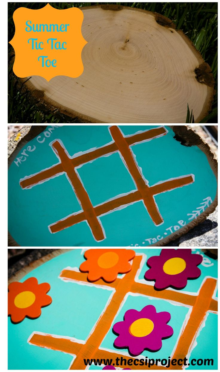 What a fun idea for summer! An outdoor tic tac toe game board. Summer Tic Tac To...