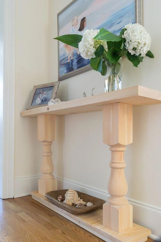 Yippee! I can check this off of my DIY bucket list! This easy DIY console table ...