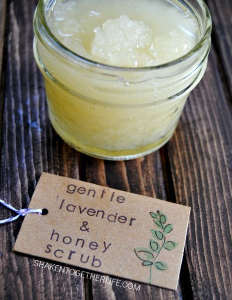 Beat dry, flaky skin with a gentle lavender honey scrub! I love it for the dry a...