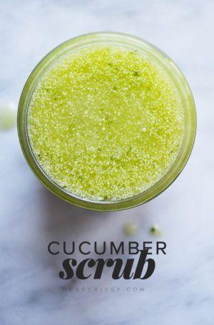 Cucumber Body Scrub - This refreshing DIY cucumber body scrub will exfoliate you...